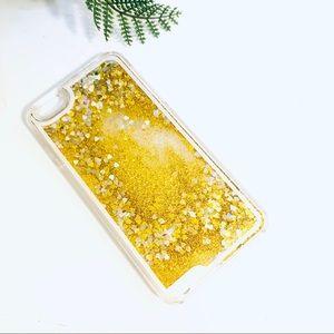 iPhone 6 Plus Glitter Gold Liquid Quicksand